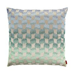 Refresh your interior with this Paramount cushion from Missoni Home. Produced exclusively for Amara it features a unique woven pattern on a beautifully shaded aquamarine background. Wonderfully tex...