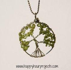 Enchanted Wire Tree Pendant