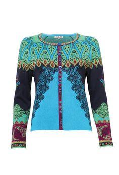 Cardigan, Ornament Pattern - Cardigan   Ivko Woman