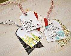 Simply Stamped: Pattern Paper Layered Christmas Tags