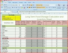 Long term food storage chart