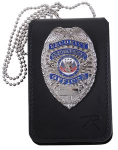 - Features Clear Plastic Window on One Side For ID Card and Spot For Badge on Other Side - Great For Law Enforcement and Security - No Cutout Area For the Badge, so Not Limited To One Sized Badge - Le
