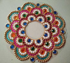 In this article we collect a top 27 Best Kundan Rangoli Designs for your Inspiration Rangoli Designs Flower, Rangoli Border Designs, Rangoli Ideas, Rangoli Designs Diwali, Diwali Rangoli, Flower Rangoli, Rangoli Patterns, Diwali Decoration Items, Thali Decoration Ideas