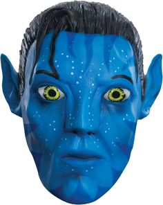 Get the perfect look for your Avatar costume with this Jake Sully vinyl mask. Get the look right away! One Avatar mask SKU: Costume Halloween, Masque Halloween, Halloween Costumes For Girls, Adult Costumes, Adult Halloween, Halloween Ideas, Costume The Mask, Sully Costume, Science Fiction