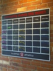 Monthly calendar of classes/events? Is something like this logistically possible, given the number of studios we have in our area?