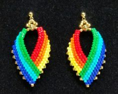 Russian Leaf Earrings in Rainbow Hues