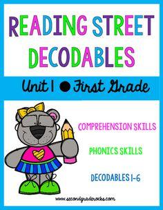 First Grade Reading Street Decodables Unit 1