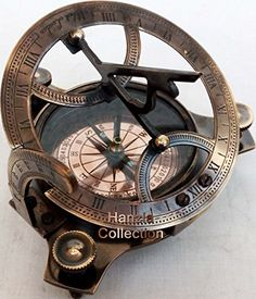 Sundials - 4 West London Brass Sundial Compass Vintage Maritime Antique Brass Compass *** Read more reviews of the product by visiting the link on the image. (This is an Amazon affiliate link)