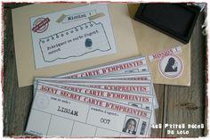 Anniversaire thème agents secrets : fabriquer sa carte d'agent