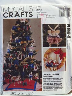 McCall's 6664 Country Critter Christmas Sampler