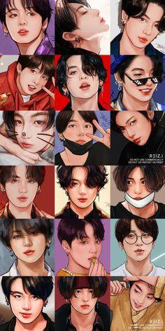 Foto Bts, Foto Jungkook, Jungkook Cute, Kookie Bts, Bts Photo, Bts Taehyung, Jungkook Fanart, Kpop Fanart, Mochila Do Bts