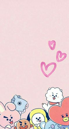 29 Ideas Wallpaper Backgrounds Cute Bts For 2019 K Wallpaper, Kawaii Wallpaper, Bts Backgrounds, Bts Drawings, Line Friends, Bts Chibi, Bts Fans, Cute Cartoon Wallpapers, I Love Bts