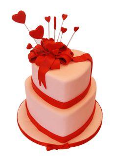 Valentines Cakes And Cupcakes, Valentine Cake, Valentines Food, Heart Shaped Cakes, Heart Cakes, Mini Tortillas, Beautiful Cakes, Amazing Cakes, Fondant Cakes