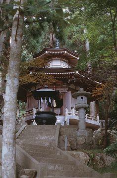 Temple on Kinkazan island, not far from Sendai in Tohoku, Japan (by Yoppa Oz).