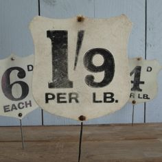 VINTAGE GROCERY SHOP LABEL - 1/9 PER LB., £10.00