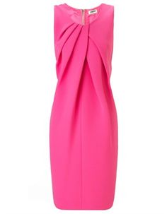 Like the draping on this dress ~ Hot Pink Drape Front Dress | L'Agence | Avenue32
