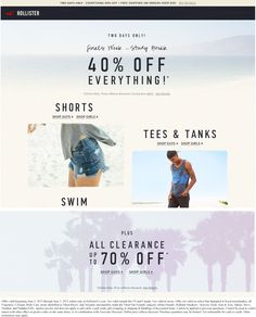 pinned june 2nd everything is 40 off online at hollister coupon via