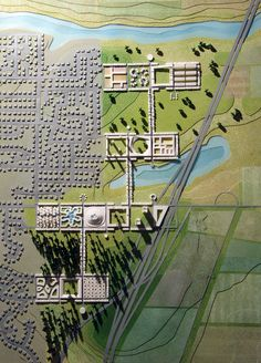 """Based on a 225 acre site in Keizer Station, Oregon, the project by WorkAC was commissioned by the Museum of Modern Art, NY for the exhibition """"Foreclosed: Re-Housing the American Dream"""". e-inventing the Town-Country for the 21st Century, Nature-City proposes a range of new housing typologies, to integrate density, diversity, mixed use, and a wide range of affordability with publicly accessible nature, ecological infrastructure, sky gardens, urban farms and large swaths of natural habitats."""