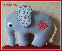 Baby-Elefant aus Nickystoff...
