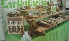 EarthsEssential.com store display of all natural hair and skin care products.