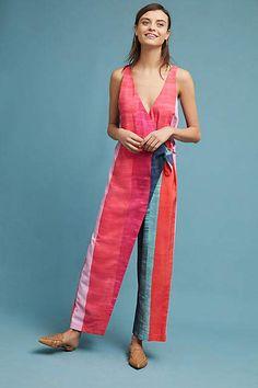 8b18eba839db Mara Hoffman Striped Wrap Jumpsuit Handmade Dresses