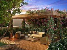 10 Awesome Pergola Designs That Will Turn Your Yard Into a Peaceful Refuge Outdoor Areas, Outdoor Rooms, Outdoor Living, Outdoor Furniture Sets, Outdoor Decor, Balcony Furniture, Diy Pergola, Pergola With Roof, Cheap Pergola