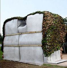 Concrete Canvas instant shelter.