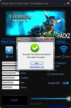 Download Vikings War of Clans Hack iOS Android Cheats only at: http://sevenhackz.com/08/vikings-war-of-clans-hack-ios-android-cheats/  Vikings War of Clans Hack iOS Android Cheats : This Vikings War of Clans Hack working free with all iOS and Android Devices. No Jailbreak or Root required to use Vikings War of Clans Hack. With Vikings War of Clans Hack you can add free Unlimited Gold, Unlimited Food, Unlimited Silver, Unlimited Lumber, Unlimited Iron, Unlimited Stone, Double EXP.
