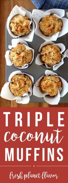 Triple Coconut Muffin Recipe (Grain/Dairy-Free)   Fresh Planet Flavor