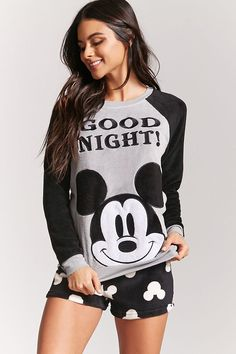 Designer Clothes, Shoes & Bags for Women Cute Pajama Sets, Cute Pjs, Cute Pajamas, Flannel Pajamas, Pyjama Disney, Disney Pajamas, Lazy Day Outfits, Cute Comfy Outfits, Casual Outfits