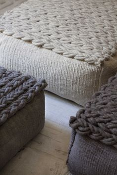 Pillows with knit cover