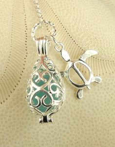 GENUINE Turquoise Sea Glass Jewelry Locket and by seaglassgems4you, $32.00