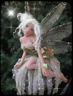 OOAK Fairy OOAK Toadstool fairy sculpted in Prosculpt, and finished in mixed media.