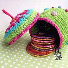 Crochet treasury basket container  pdf pattern by VendulkaM, $4.60