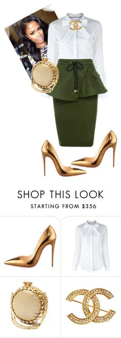 """""""Untitled #528"""" by cogic-fashion ❤ liked on Polyvore featuring Christian Louboutin, Burberry and Chanel"""