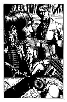 Inked page from The Night Projectionist by DY
