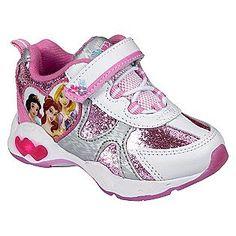 Toddler Girl's Princess Sparkle Athletic Shoe - White- Disney
