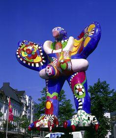 Lebensretter-Brunnen (Lifesaver Fountain), Duisburg, Germany French sculptor Niki de Saint Phalle