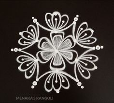 Simple Deepavali Muggu For Beginners Simple Rangoli Designs Images, Rangoli Designs Latest, Rangoli Designs Flower, Rangoli Border Designs, Rangoli Patterns, Rangoli Ideas, Rangoli Designs With Dots, Rangoli Designs Diwali, Flower Rangoli