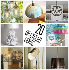 20 different lights made out of everyday objects.  There is something for everyone on this list (via @thecraftblog )