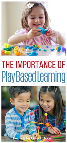 """Twin Cities Kids Club Blogs: The Importance of Play Based Learning - Play-based learning is defined as a child-directed practice and a way for children to learn while they are at play. There are many different ways that a child can engage in """"play."""" 