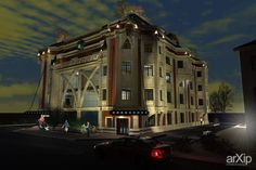 Визуализация 3Д здания Экстерьер: зd визуализация, архитектура #3dvisualization #architecture