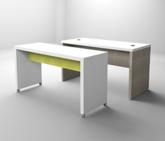 Futrus Parsons Tables With Privacy Panels. Customizable Table With Any DuPont  Corian Color.