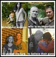 The Walking Dead- deaths. :( Some of these nearly brought tears to my eyes - Hershel, Beth, Sofia and even Merle. #TWD