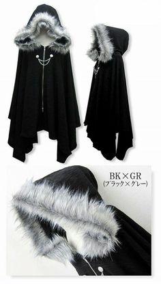 Gothic fashion 857232110304784871 - Harajuku Gothic Lolita Vampire Cloak Coat Hoodie Punk Jacket Shawl Cool Black Source by Cool Outfits, Fashion Outfits, Fashion Trends, Cool Dresses, Women's Dresses, Fashion Ideas, Fashion Clothes, Stylish Outfits, Party Dresses