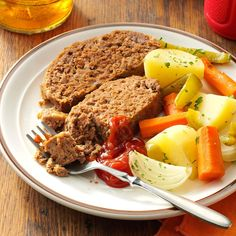 Pot Roast Meat Loaf Recipe -If your taste buds call for pot roast but your pocketbook insists on ground beef, here's the perfect solution! You save on cleanup, too, since the meat and veggies cook in the same dish. —Magdalene Fiske, La Farge, Wisconsin