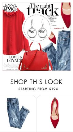 """""""The Right Track"""" by lucky-1990 ❤ liked on Polyvore featuring J.Crew and Gianvito Rossi"""