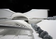 Santiago Calatrava's Denver International Airport Terminal project model
