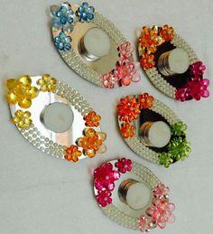 Diwali Craft, Diwali Rangoli, Diwali Gifts, Thali Decoration Ideas, Diwali Decorations, Festival Decorations, Flower Decorations, Cd Crafts, Easy Diy Crafts