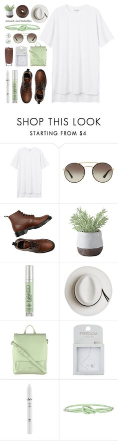 """""""◍ we don't talk anymore like we used to"""" by december-berry ❤ liked on Polyvore featuring Monki, Prada, Torre & Tagus, Urban Decay, Calypso Private Label, Radley, Topshop, NYX, Acne Studios and Fantasia"""